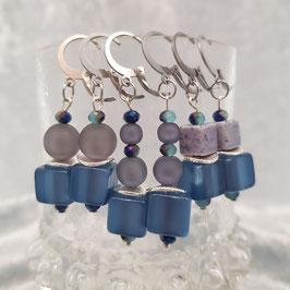 "Ohrringe ""Neptun"", blau/grau, Ohrhänger[optionen]"