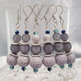"Ohrringe ""Laguna"", blau/grau, Edelstahl [optionen]"