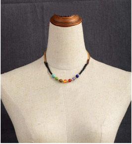 7 Chakra Lavastein Halskette