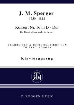 Konzert Nr. 16 in D - Dur für Kontrabass und Orchester