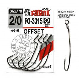FO-3315 Крючок офсетный  размер-2\0 (Ø0.85)