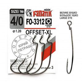 FO-3312 XL  Крючок офсетный  размер-4\0 (Ø0.66)