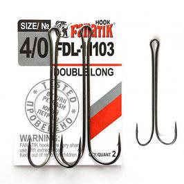 FDL-11103 Крючок двойниковый   размер-4\0