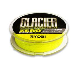 Леска плетёная RYOBI PE GLACIER 4* 120m d-0.331 #16kg Yellow