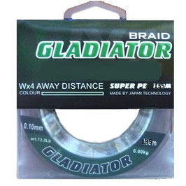 Леска плетёная Gladiator PE х4 135m d-0,16 dark green