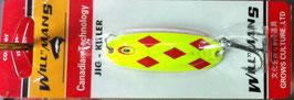 Блесна GC, вес-7 г.длина-57мм (цвет 002/A) подложка(ярко малиновая)