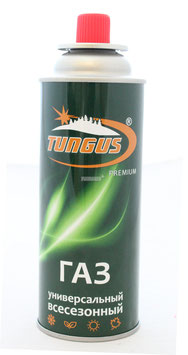 "Газ для порт. плит ""Tungus"" Premium, метал. баллон, 220гр. цанг. (всесезонный)/12/"