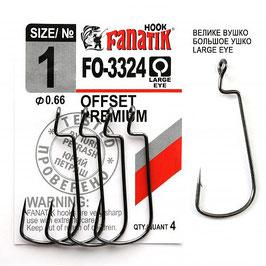 FO-3324 Крючок офсетный  размер-1 (Ø0.66)