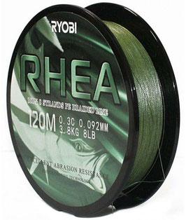 Леска плетёная RYOBI PE RHEA 8* 120m d-0.165 #9.0kg Dark green