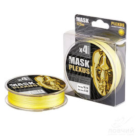 Леска плетёная MASK PLEXUS x4 125m d-0,08 yellow