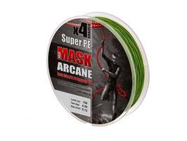 Леска плетёная MASK ARCANE PE х4 150m d-0,18 dark green