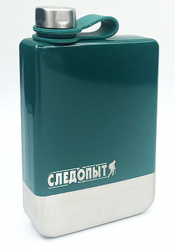 Фляжка «СЛЕДОПЫТ Green Edition – Traveller» зеленая,  240 мл,  сталь 304/100/