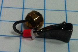 Мормышка каблук(черный)-латунный граненный шар(в)- 0.6 гр