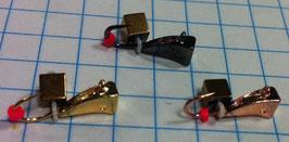 набор 3 мормышки(3 цвета) с кубиком хамелеоном