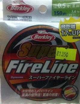 Плетёный шнур FireLine, Berkley. 0.5, 8lb, 3.6kg, 150m