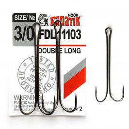 FDL-11103 Крючок двойниковый   размер-3\0