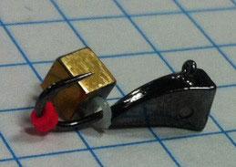 Мормышка каблук-кубик хамелеон(в)- 0.6 гр(черный)
