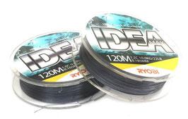 Леска плетёная RYOBI PE IDEA 8* 120m d-0.185 #10.0kg Grey