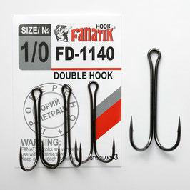 FD-1140 Крючок двойниковый   размер-1\0