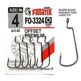 FO-3324 Крючок офсетный  размер-4 (Ø0.66)