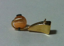 Мормышка каблук-кошачий глаз(в)- 0.6 гр(латунь)