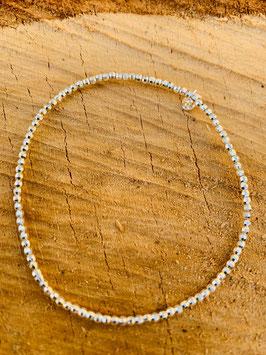 925 Silber Armkette gummi Kügelchen rodieniert 2mm