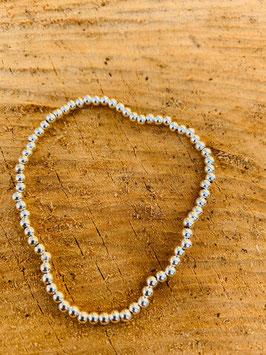 925 Silber Armkette gummi Kügelchen rodieniert 3mm