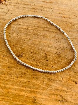 925 Silber Armkette gummi Kügelchen  2mm