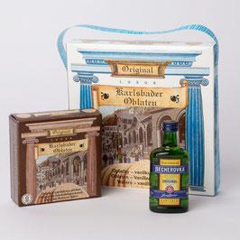 Geschenkverpackung – Karlsbader Oblaten mit Becherovka