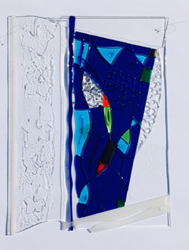 Glasbild Relief ca. 60 x 45 cm zum aufhängen