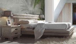 Cama de bambú  White
