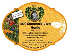 1000 Sommerblüten-Honig Mai-Juli