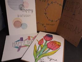Pakket 5 verjaardagskaartjes