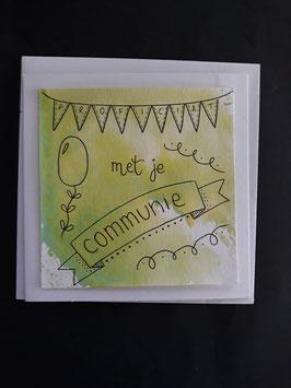 Communie groen aquarel