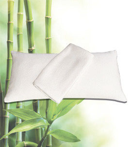 Nackenstützkissen + extra Bambus Bezug, Kombipack