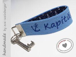 Schlüsselanhänger • Kapitän  • Name  •  Stoff innen