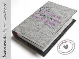 Gotteslobhülle • Gebetbuch • Filz • Spruch Flügel