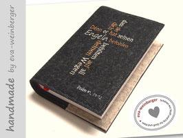 Gotteslobhülle • Gebetbuch • Filz • Kreuz Spruch