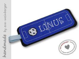 Lesezeichen Fußball •anthrazit/königsblau/weiß