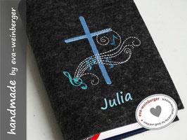 Gotteslobhülle • Gebetbuch • Einband • Kreuz Noten Melodie
