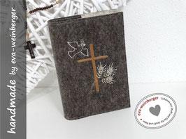 Gotteslobhülle • Gebetbuch • Einband • Kreuz Taube und Getreideähren