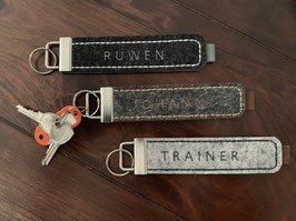 Schlüsselanhänger • Name • Filz • Männer