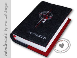 Gotteslobhülle • Gebetbuch • Einband • Kreuz Quadrate