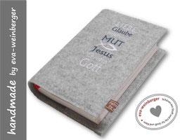 Gotteslobhülle • Gebetbuch • Filz •Liebe, Glaube, Hoffnung, Mut