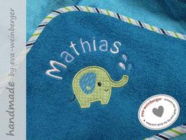 Babybadetuch • Elefant • 80x80 cm