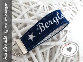 Schlüsselanhänger • Name  • Filz • Berg... • Stoff innen • personalisierbar