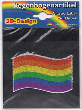 3D Regenbogen Aufkleber Flagge