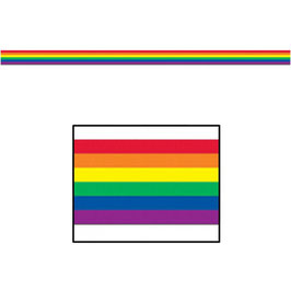 Regenbogen Absperrband 8 cm x 15,25 m