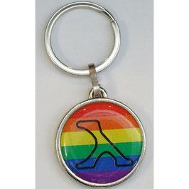 3D Regenbogen-Schlüsselanhänger