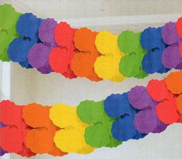 Regenbogen Papier-Girlande 360 cm